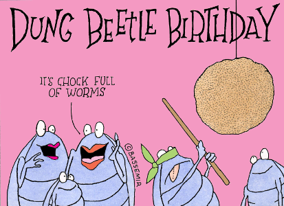 A Dung Beetle's Birthday Party