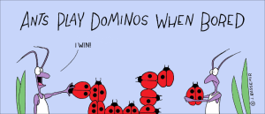 ants playing dominos
