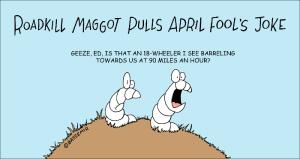 Maggot April fools joke